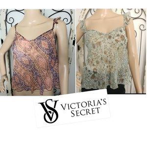 Two Victoria's Secret cami tops small NWT